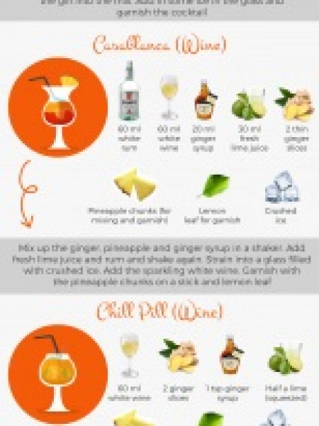 Delicious Cocktail Recipe Infographic