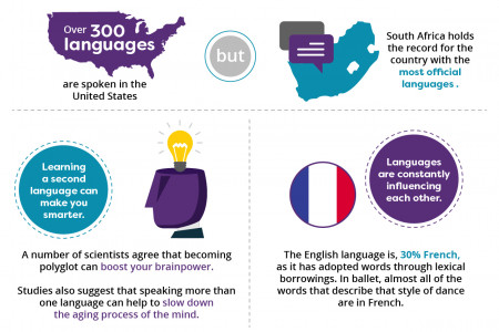 Delightfully Geeky Language Facts Infographic