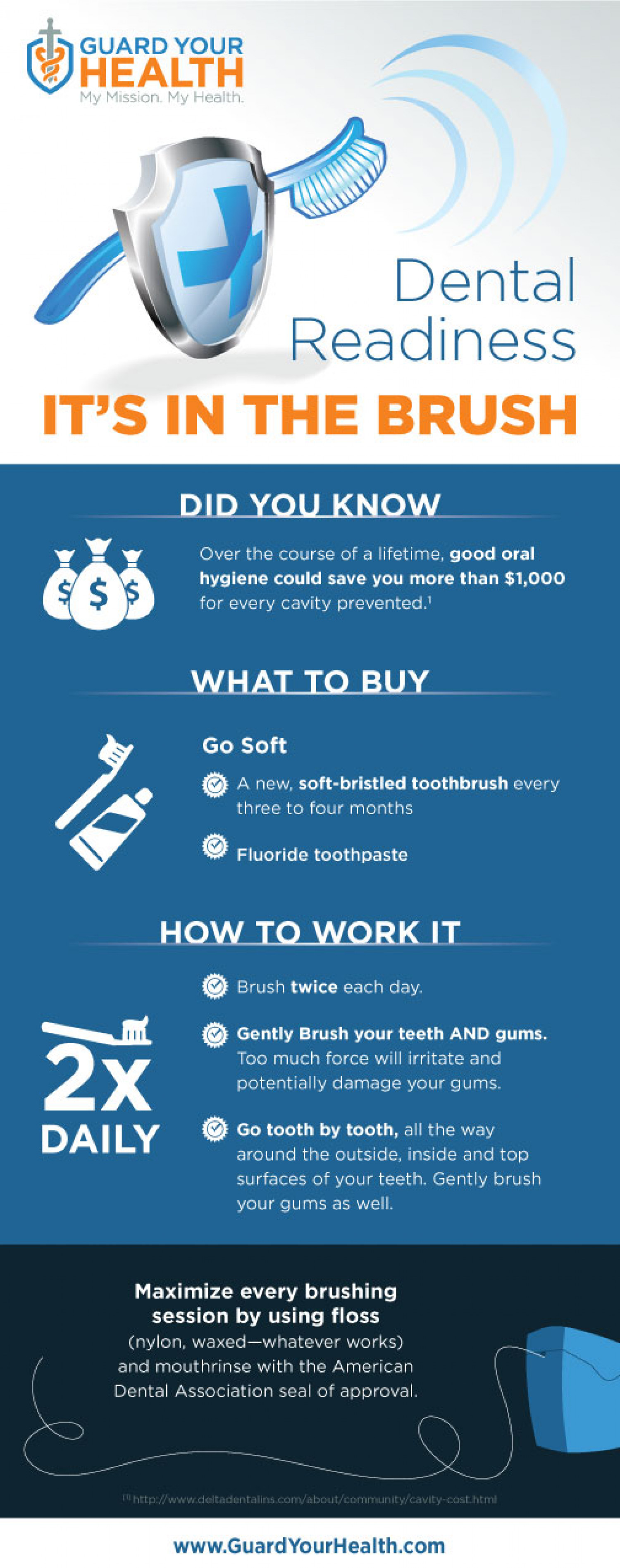 Dental Readiness: It's in the Brush Infographic