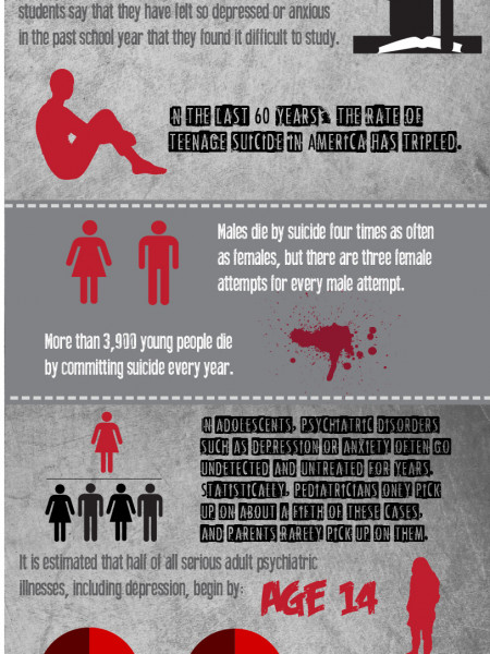 Depression and Suicide in Young Adults Infographic