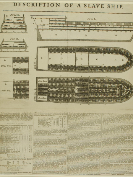 Description of a Slave Ship Infographic
