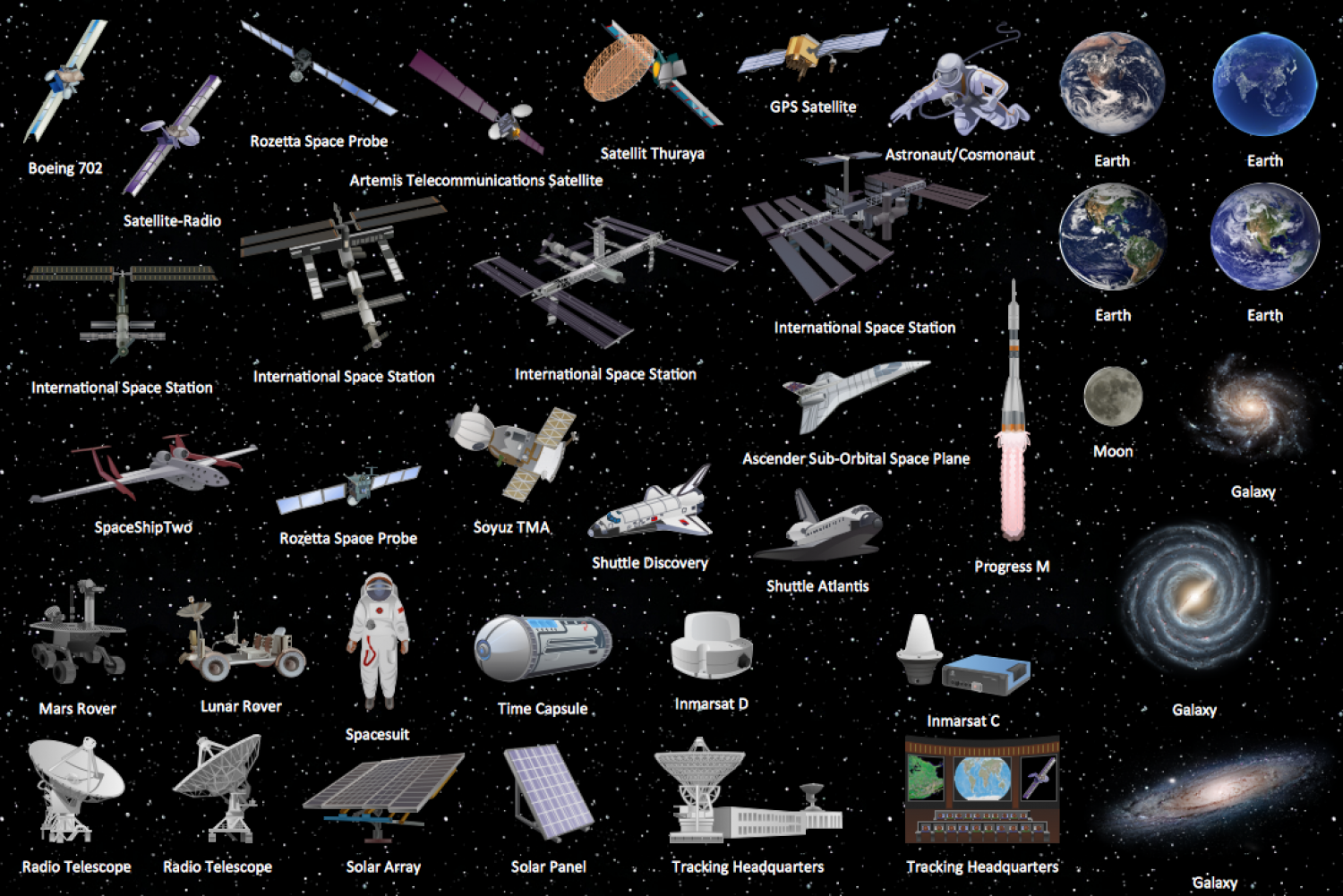 Design Elements - Aerospace Infographic