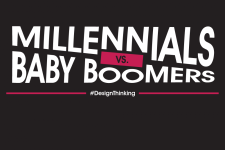Design Thinking: Millennials vs. Baby Boomers!  Infographic