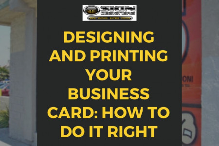 Designing and Printing Your Business Card: How to Do It Right Infographic