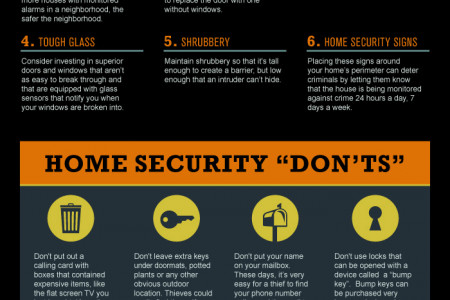 Deterring a Burglar: Understanding Home Security Infographic