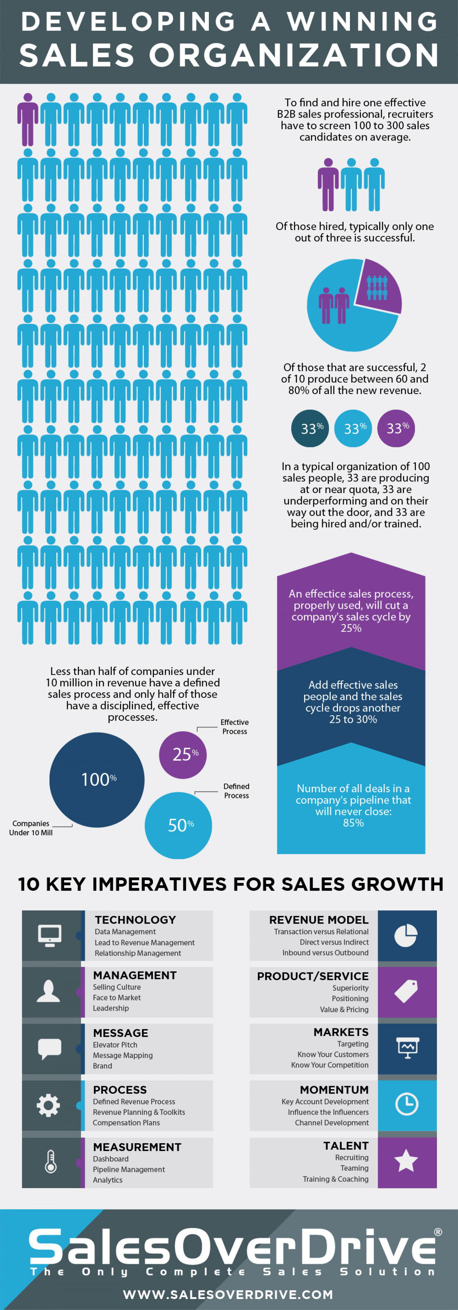 Developing a Winning Sales Organization Infographic