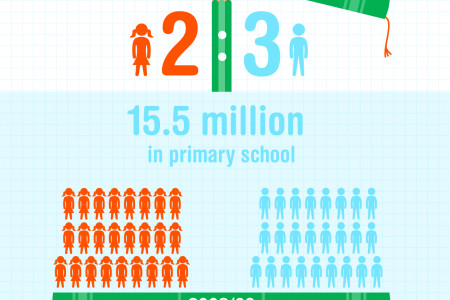 Development Progress - primary education in Ethiopia Infographic