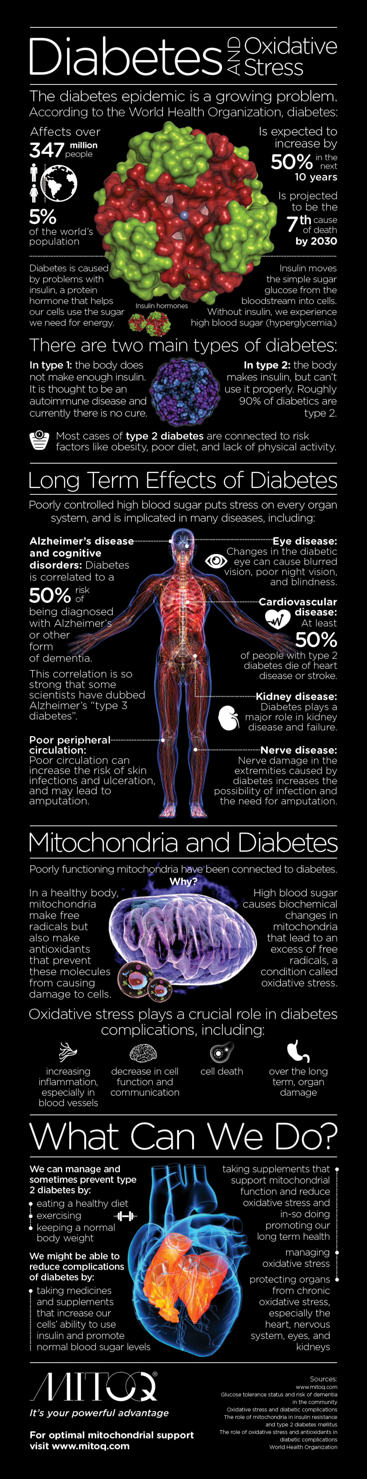 Diabetes and Oxidative Stress Infographic