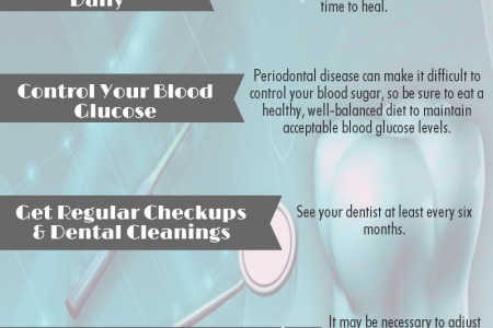 Diabetes Dental Care Tips Infographic