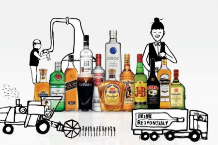 Diageo 2013 CSR Report Infographic