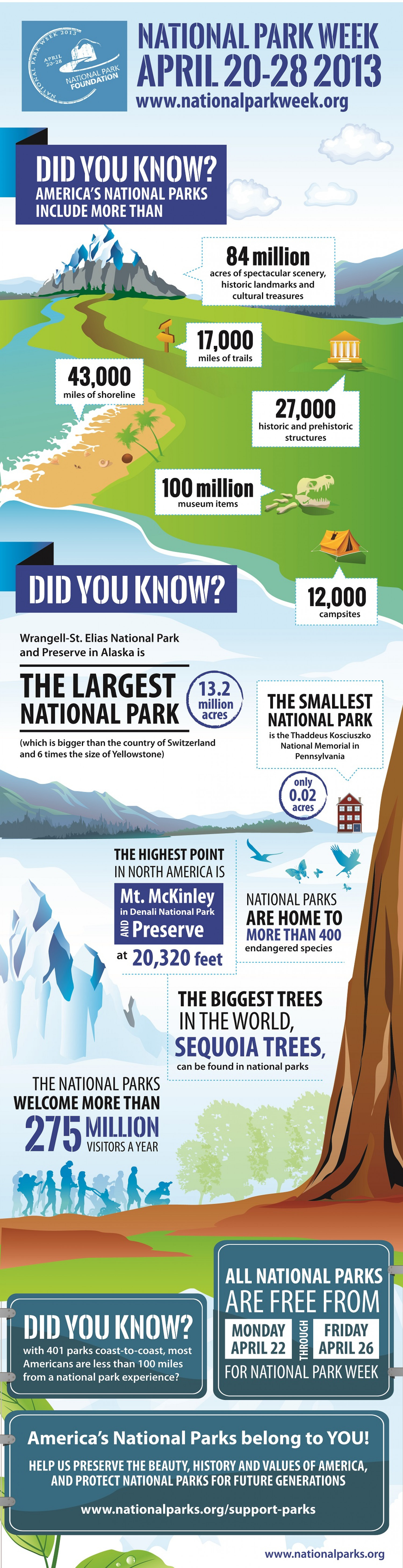 Did You Know National Park Week Is April 20-28? Infographic