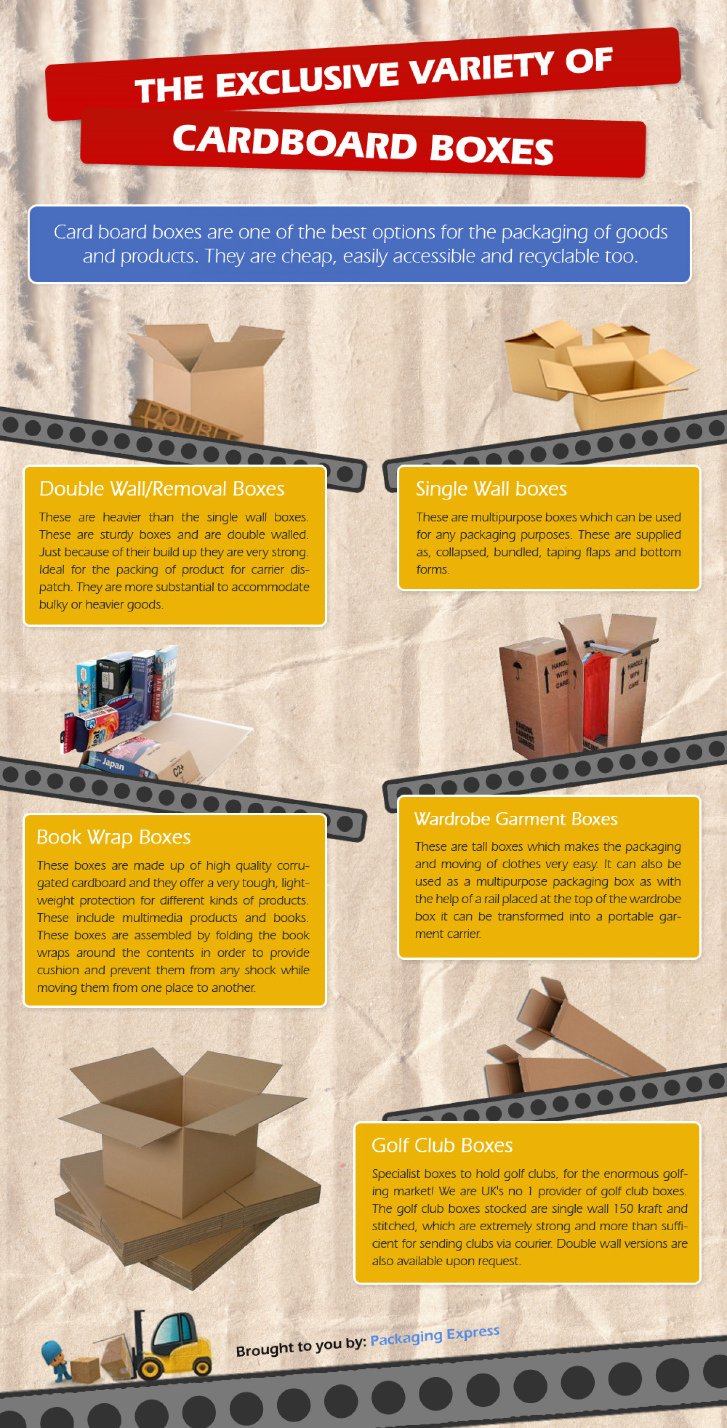 Different Types of Cardboard Boxes are here.. Infographic