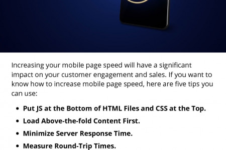 Different Ways to Increase Mobile Page Speed Infographic