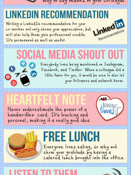 Different Ways to Say Thank You to a Colleague [Infographic] Infographic
