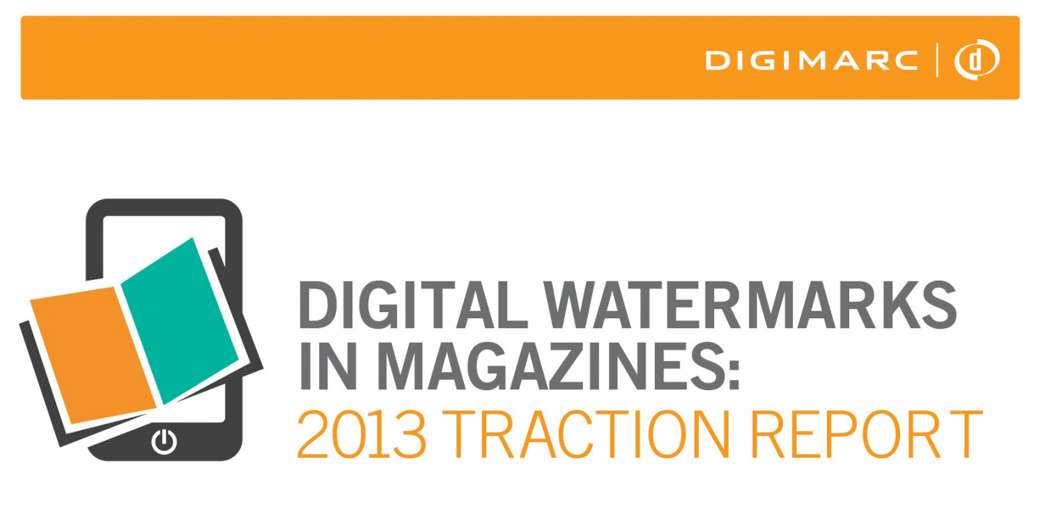 Digimarc Report Reveals Fast-Rising Growth of Digital Watermarks in Publishing Industry  Infographic