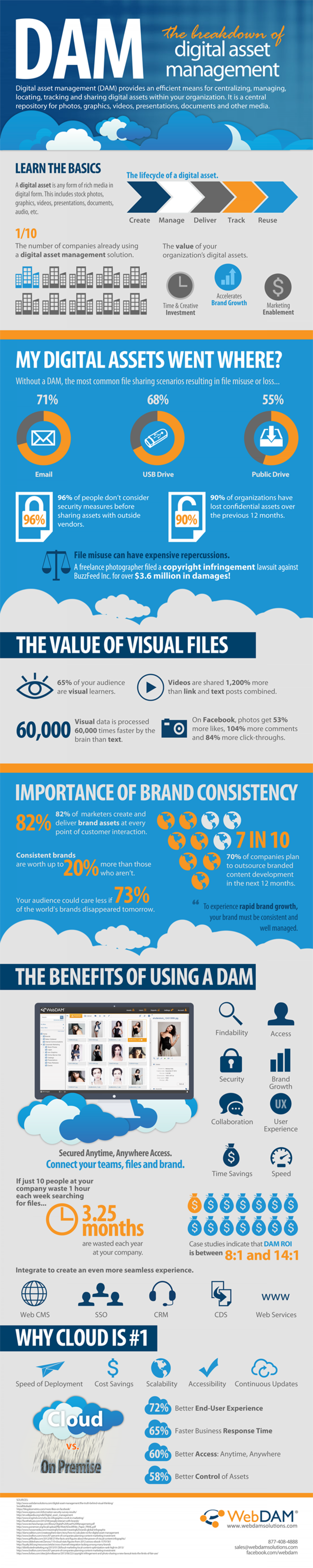 Digital Asset Management Infographic