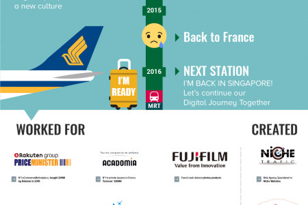 Digital eCommerce journey from Paris to Singapore Infographic