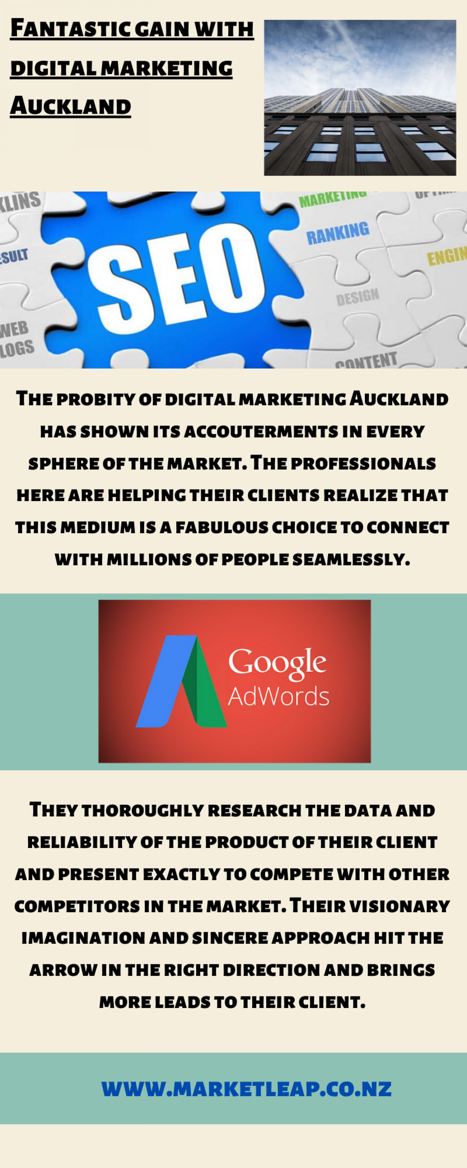 Digital marketing in Auckland Infographic
