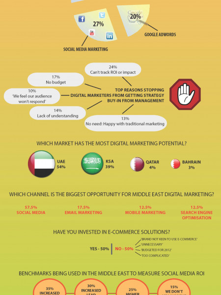 Digital Marketing Trends in the Middle East  Infographic