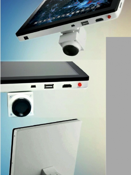 Digital Microscope Camera Screen by Xitij Instruments Infographic