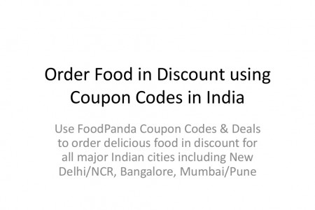 Discounted food online in India Infographic