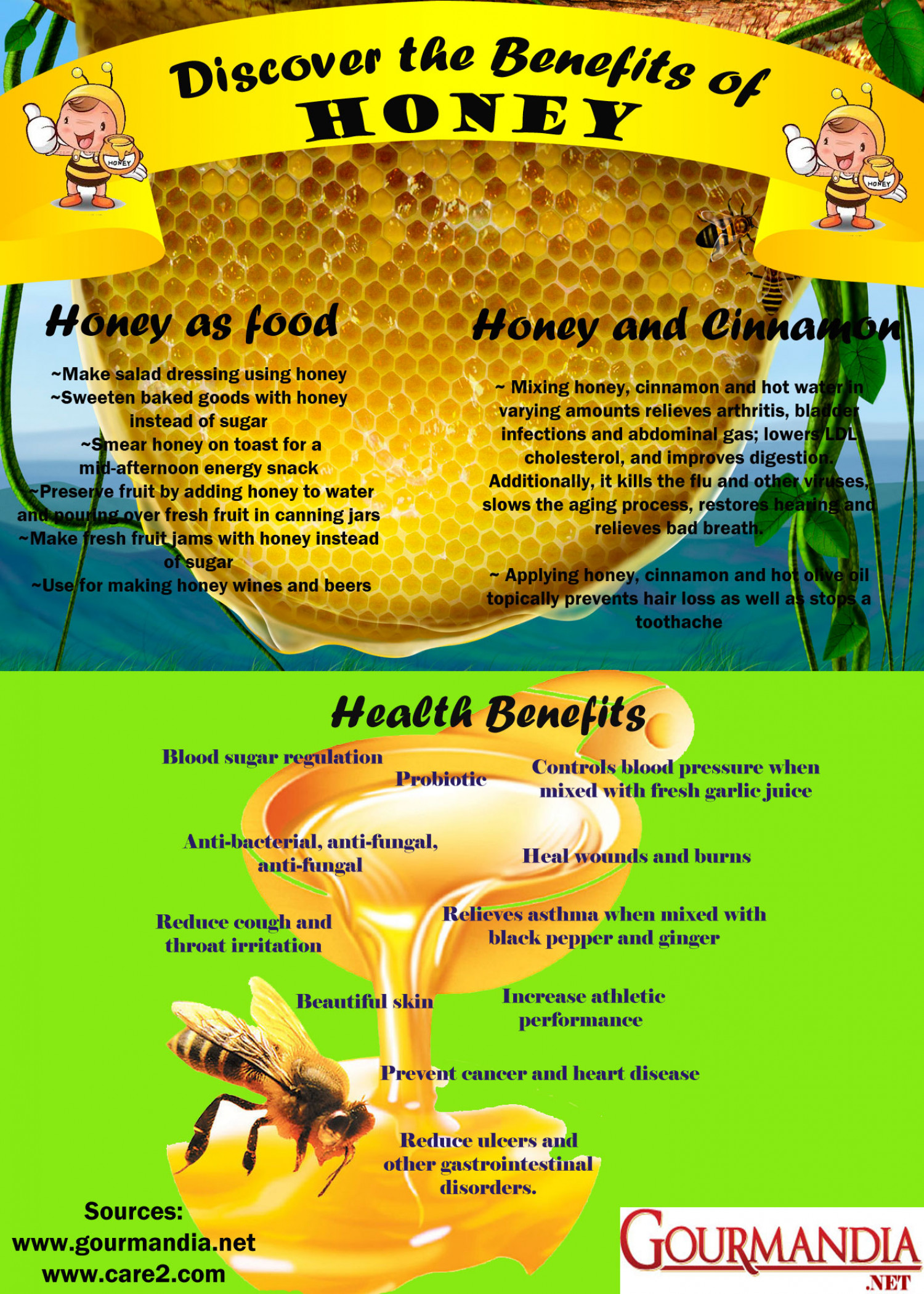 Discover the Benefits of Honey Infographic