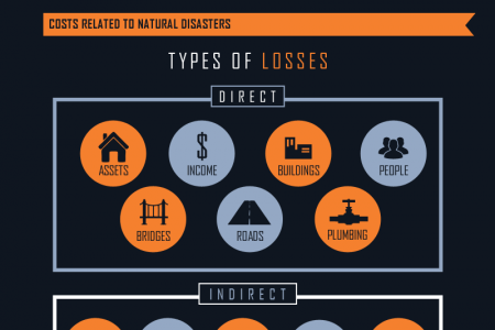 Displacements Due to Natural Disasters Infographic