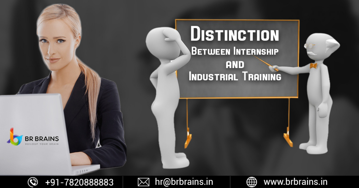 Distinction Between Internship and Industrial Training Infographic