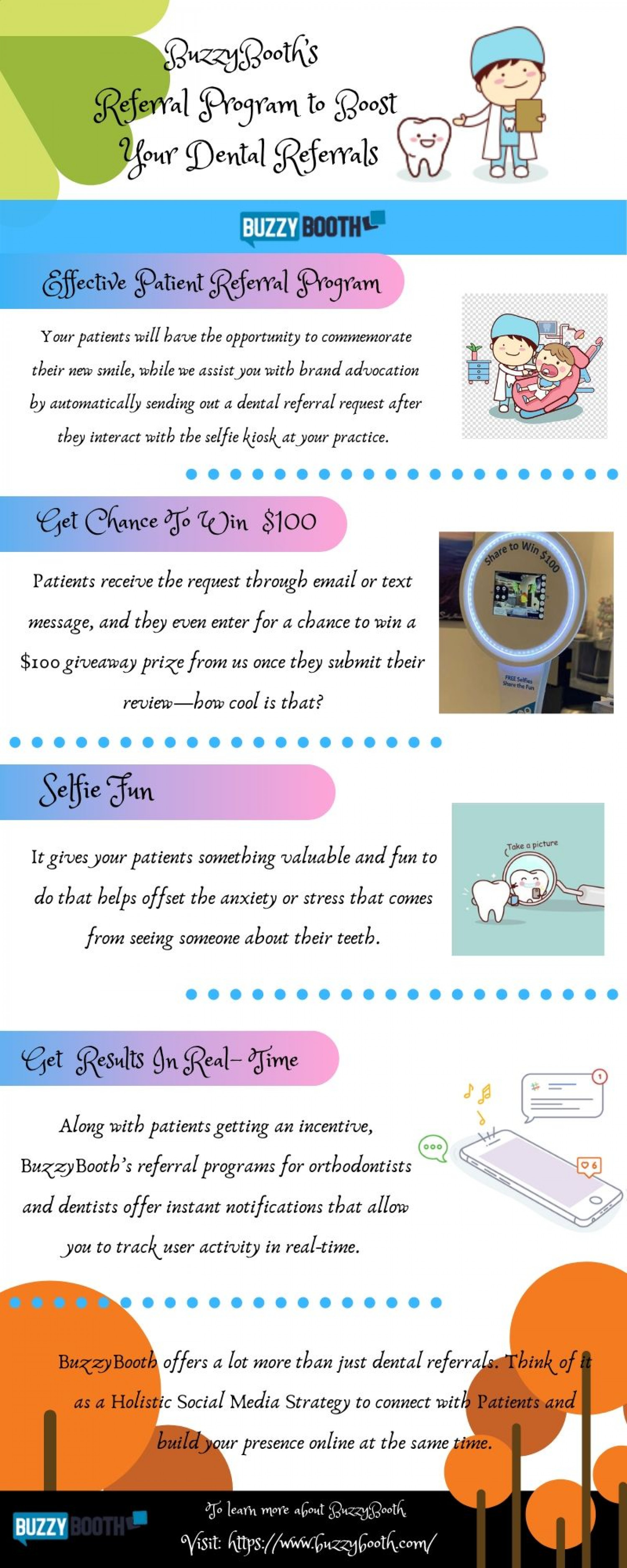 Ditch Word-of-Mouth and Boost Dental Referrals with BuzzyBooth Infographic