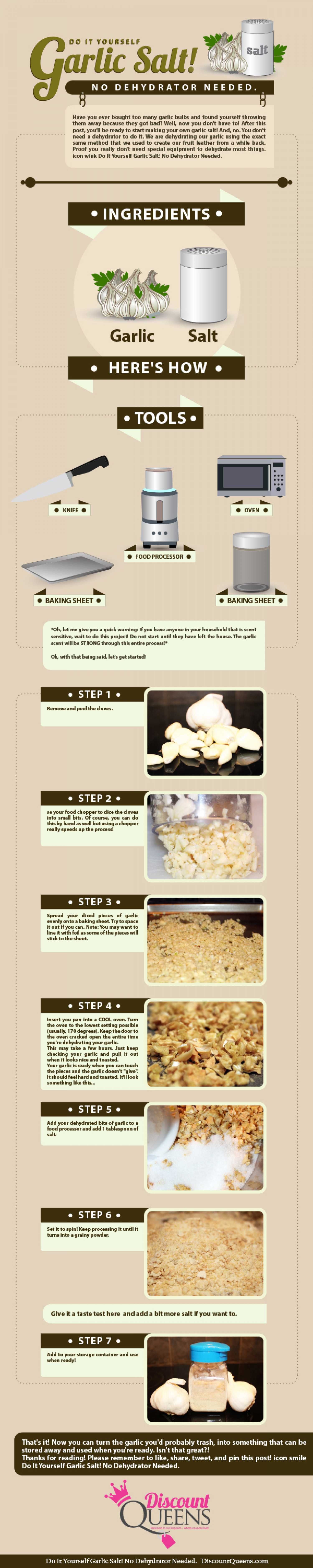DIY - Garlic Salt Infographic
