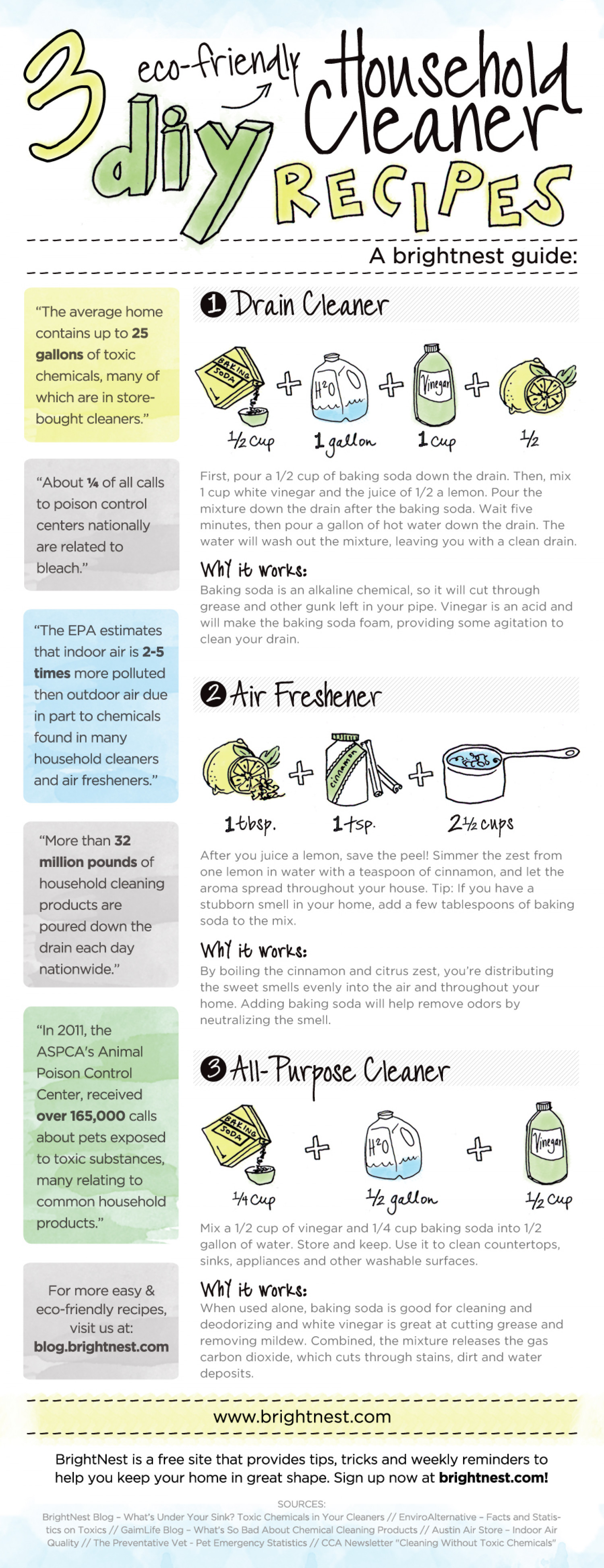 DIY Cleaning Products  Infographic