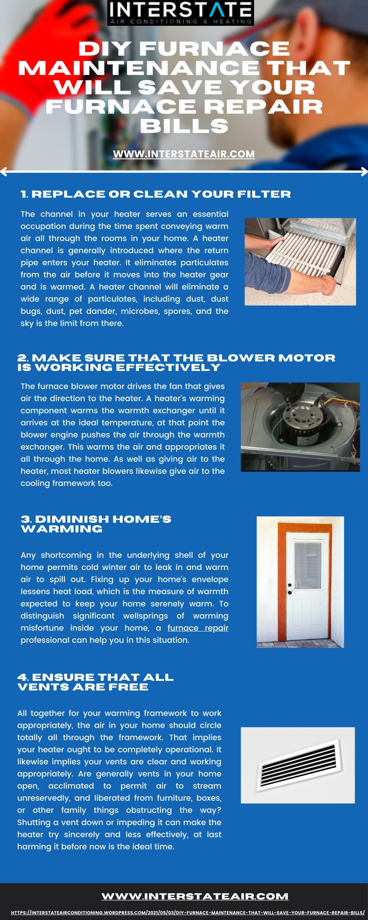 DIY Furnace Maintenance That Will Save Your Furnace Repair Bills Infographic