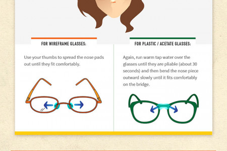 DIY Guide to Adjusting Your Glasses Infographic