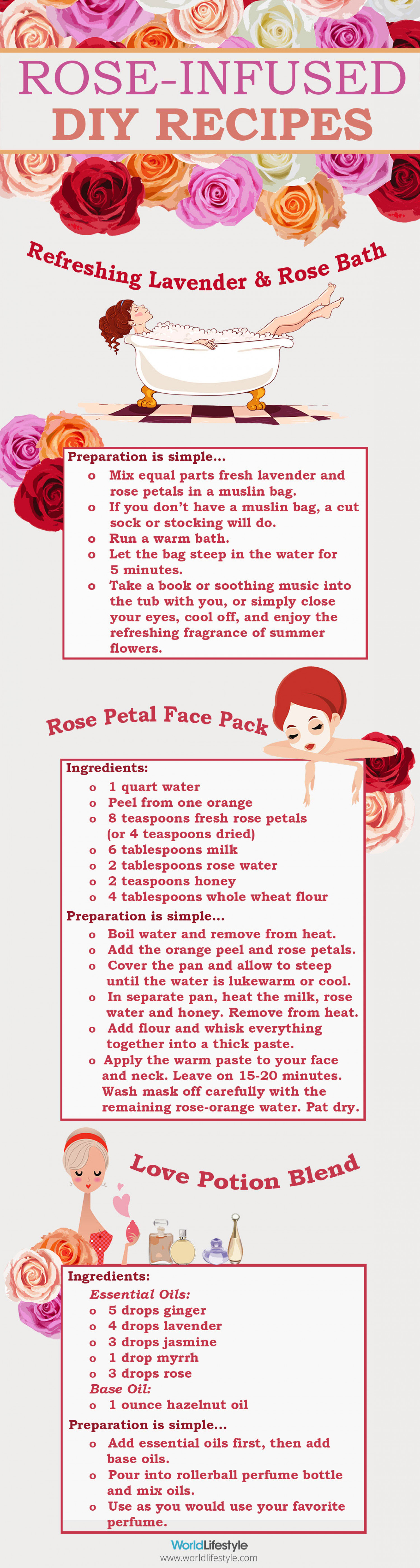 DIY Rose Infused Recipes Infographic