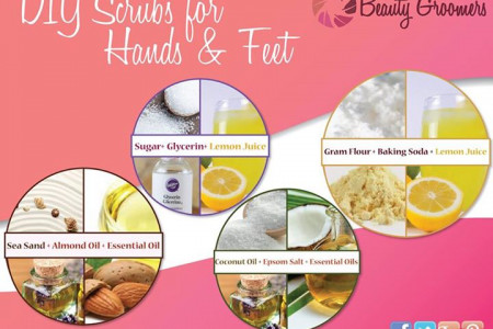 DIY scrubs for hand and feet Infographic