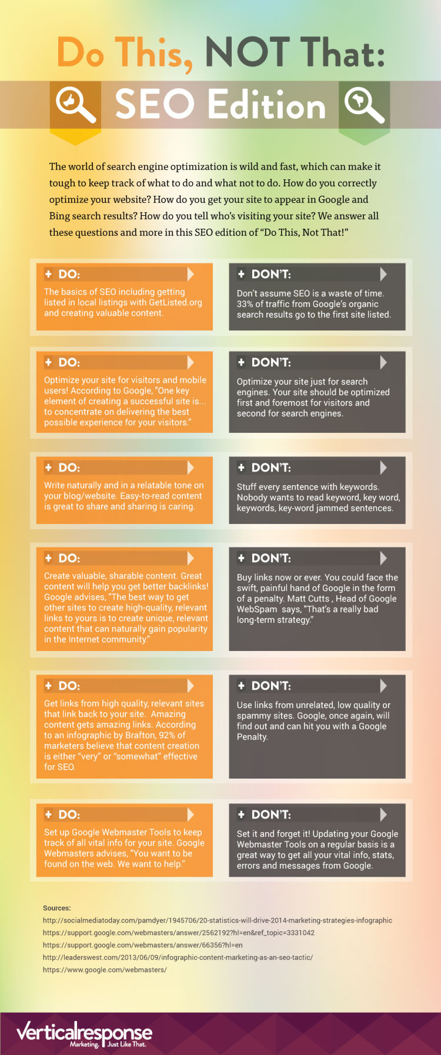 Do This, Not That - SEO Edition Infographic