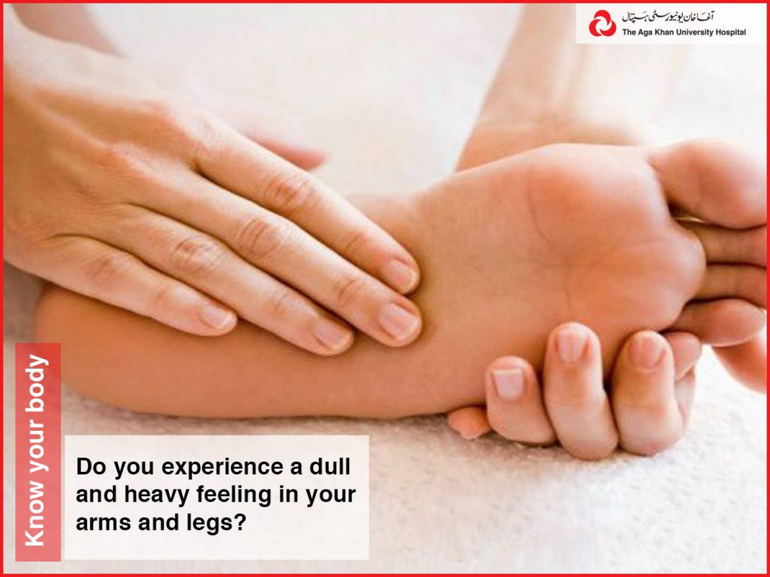 Do you experience a dull and heavy feeling in your arms and legs Infographic