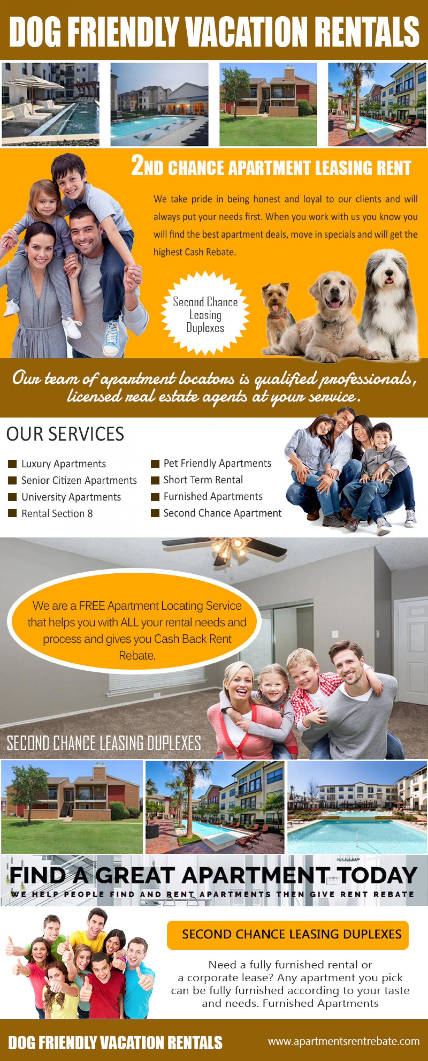 Dog Friendly Vacation Rentals Infographic