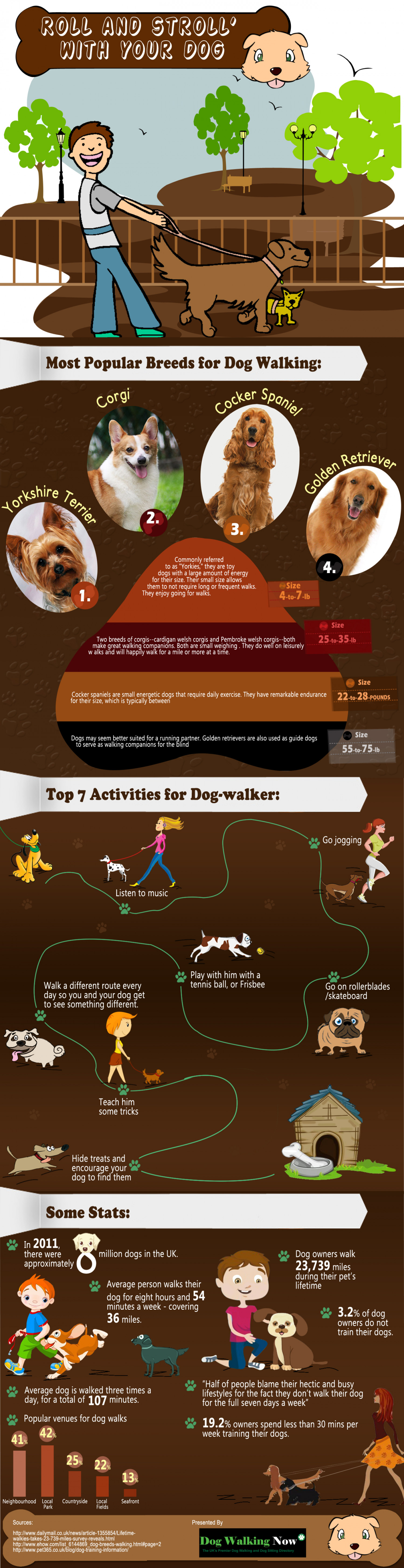 Dog Walkers: Roll & Stroll With Your Dog Infographic