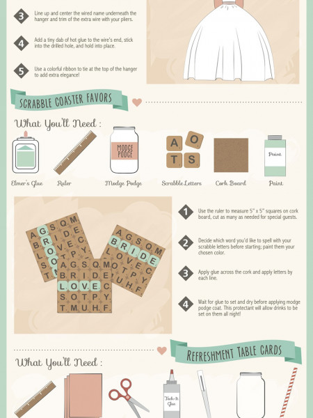 Do-It-Yourself Wedding Ideas for the Modern Bride Infographic