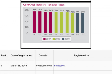 Domain Names and Their History - Some Interesting Facts Infographic