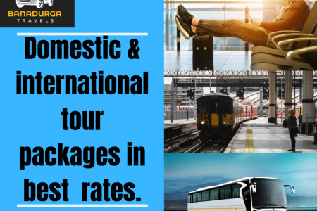Domestic and International tour packages in best rates Infographic