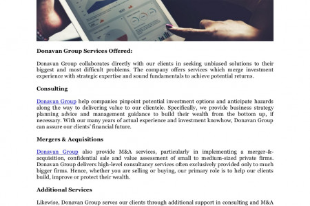 Donavan Group Wealth Building in Singapore and Tokyo, Japan's Services Infographic