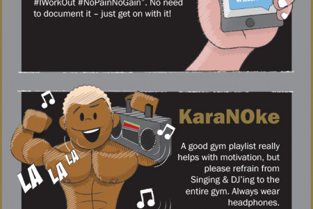 Don't Be a Dumbbell - Good Gym Etiquette Infographic