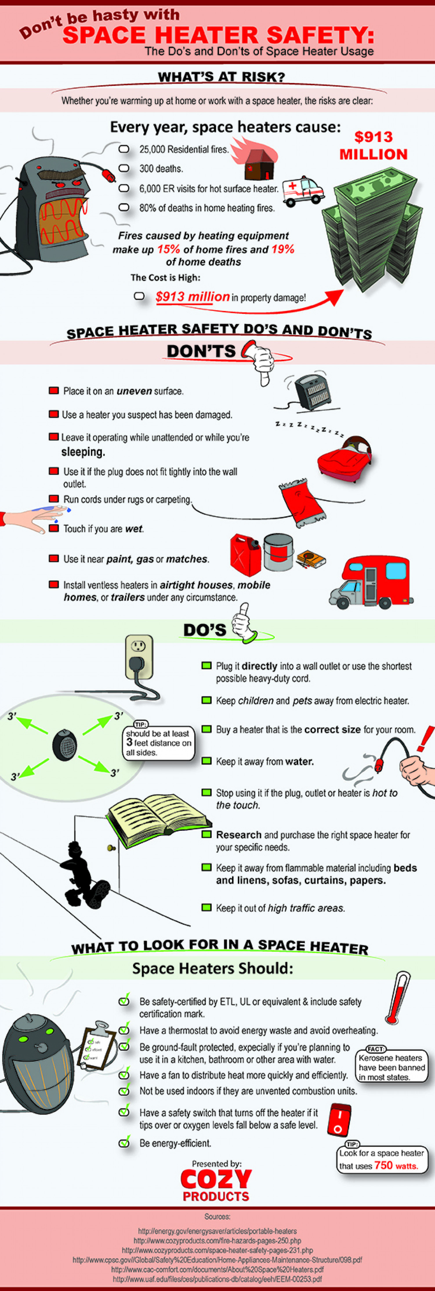 Don't Be Hasty With Space Heater Safety Infographic