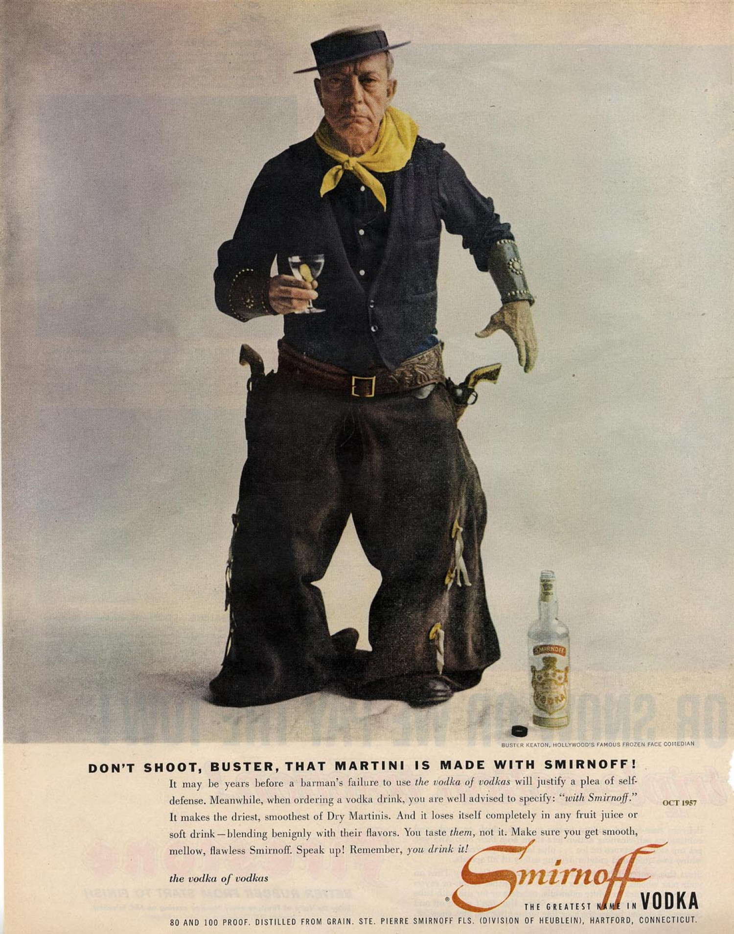 Don't Shoot Buster, That Martini is Made with Smirnoff  Infographic
