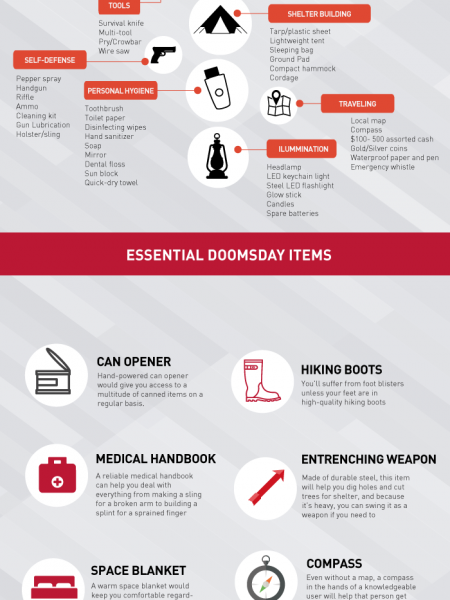 Doomsday Essential Items Infographic Infographic