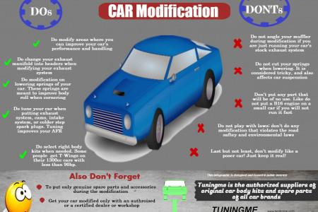 Do's and Don'ts for Car Modification Infographic