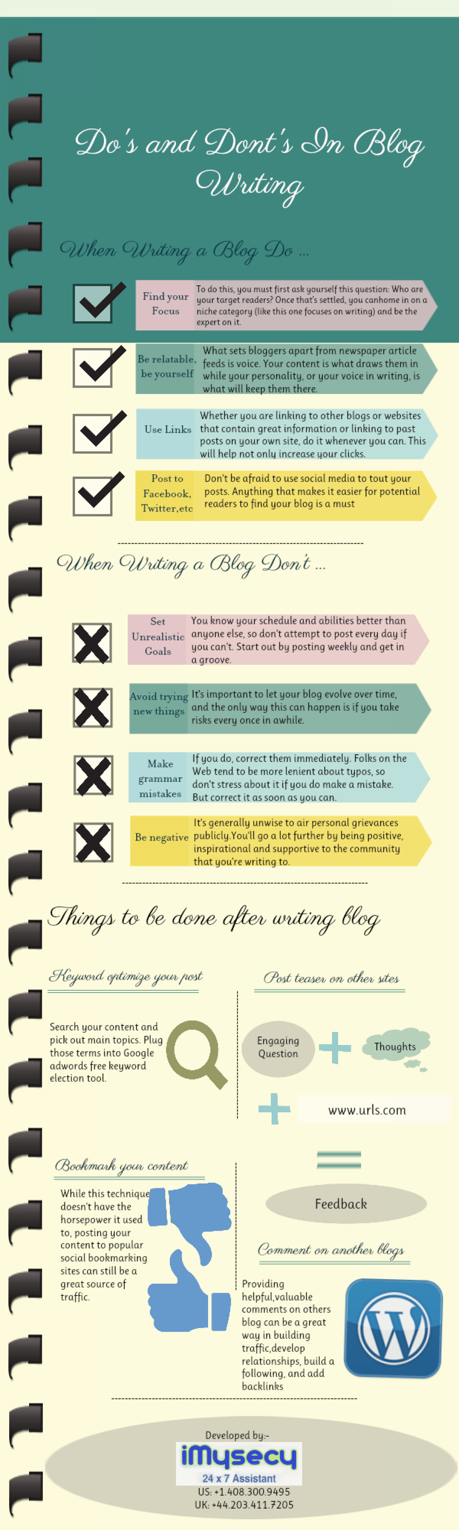 Do's and Dont's in Content writing Infographic