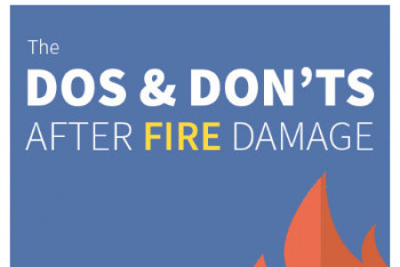 Dos and Don'ts of Fire Damage Infographic
